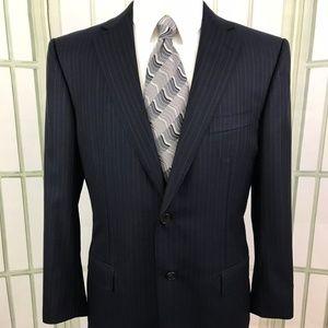 Ermenegildo Zegna Men's Blue 2B Wool Suit Jacket